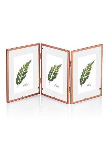 The Mia Brass Çerçeve Copper 42 x 18 Cm Renksiz